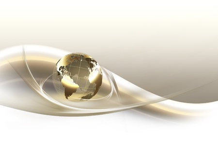 erde gelb: Business-Hintergrund mit goldenen Planeten Lizenzfreie Bilder
