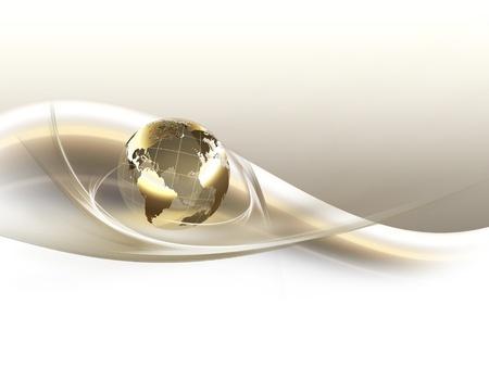 zakelijke achtergrond met gouden planeet