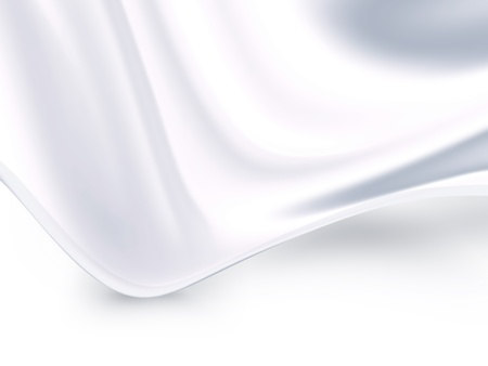 wave of white satin fabric as background photo