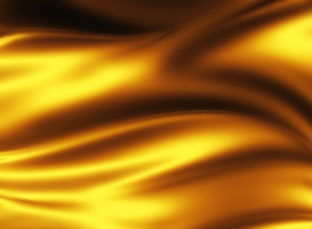 golden silk - elegant abstract background with smooth lines Stock Photo - 18942249