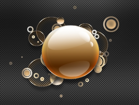abstract metal background with glass circles Stock Photo - 19095796