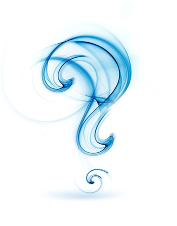 internet mark: abstract question mark on white background Stock Photo