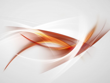 bright abstract background with orange, red and white smooth lines