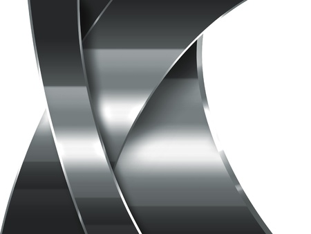 circle shape: abstract metal - modern industrial background