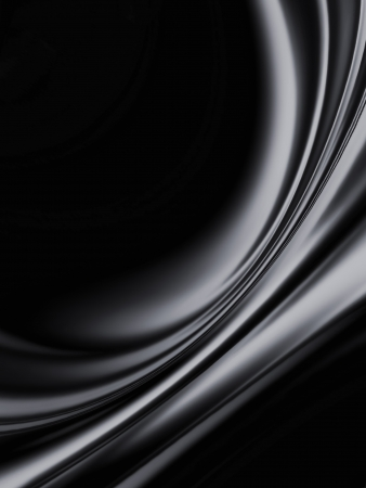 satiny cloth: wave of black silk as background