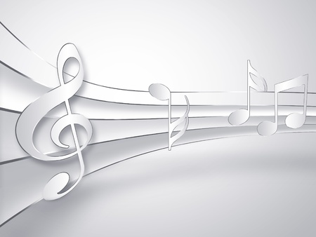 music paper background with notes photo
