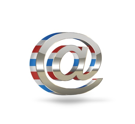 E-mail concept symbol on a light background photo