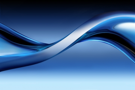 背景として青のクロムの波 写真素材