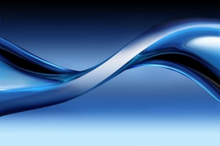 golf van blauw chroom als achtergrond Stockfoto
