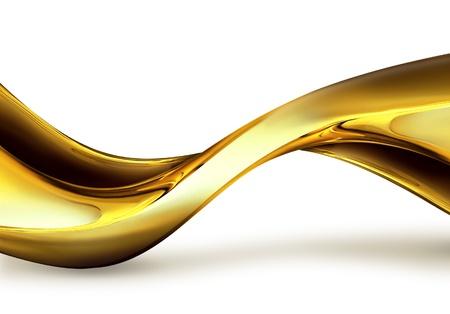 Golf van goud op een witte achtergrond Stockfoto
