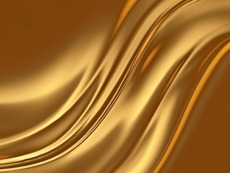 rippled: abstract gold background with smooth lines Stock Photo
