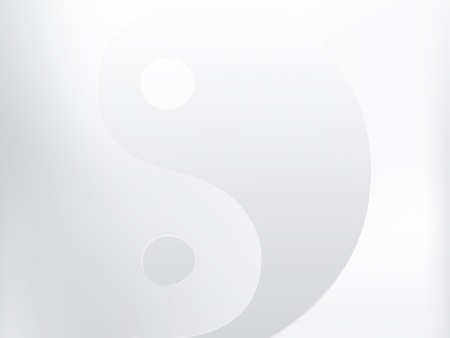 chinese philosophy: light background with a yin yang symbol