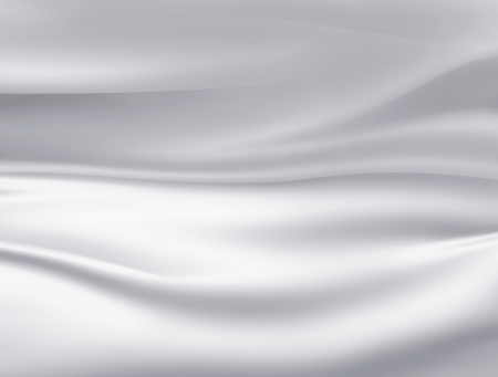 silver background: Closeup of white satin fabric as background