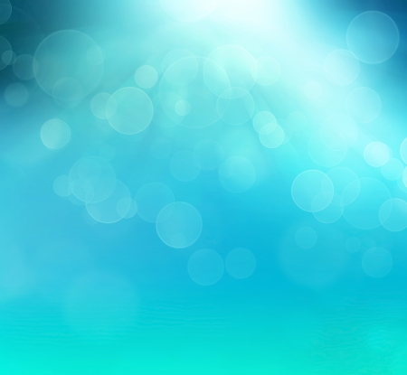 photographic effects: abstract blue background with bokeh effect Stock Photo