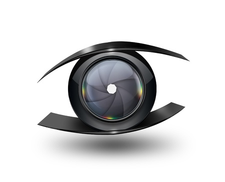 Abstract eye with the camera lens Imagens - 21075543