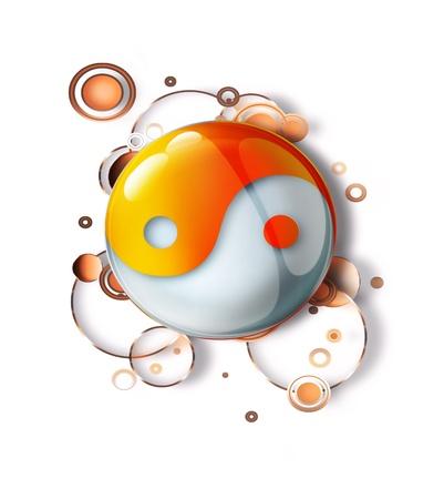abstract pattern with a yin yang symbol photo