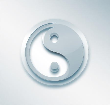 taoism: light background with a yin yang symbol