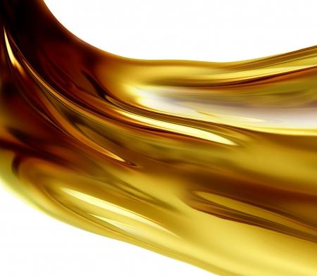 coule: Vague ? l'huile sur un fond blanc Banque d'images