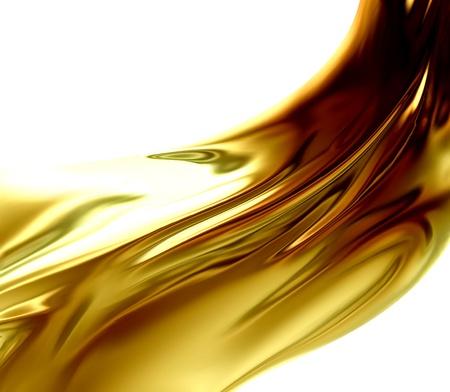 Aceite de onda en un fondo blanco Foto de archivo - 21075592