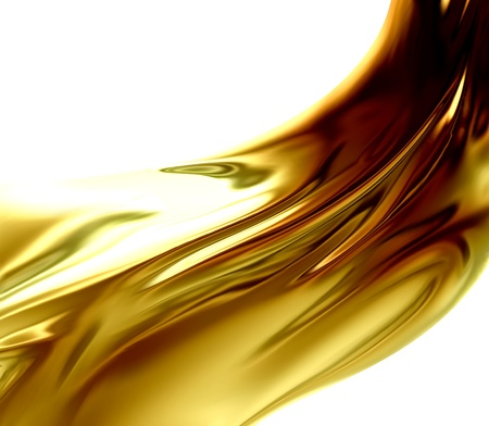 cooking oil: Oil Wave on a white background Stock Photo