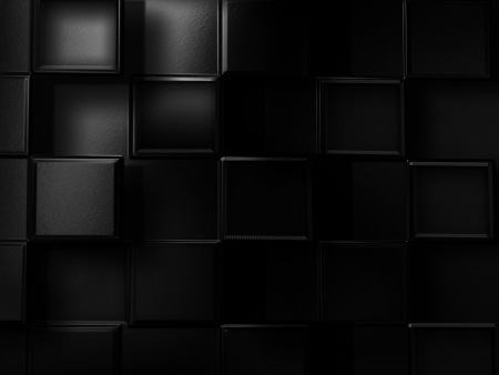 black metallic background: abstract technology background with metal squares Stock Photo