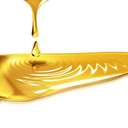 垂れ油をクローズ アップ