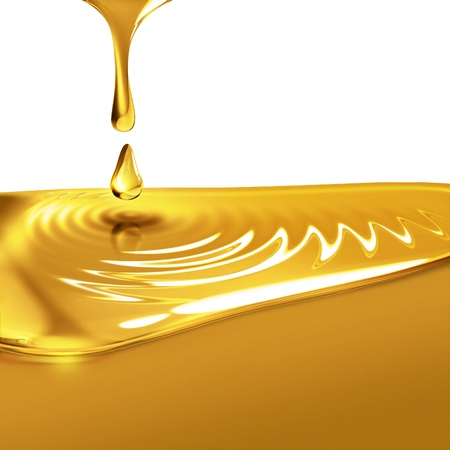 honey: dripping oil close up