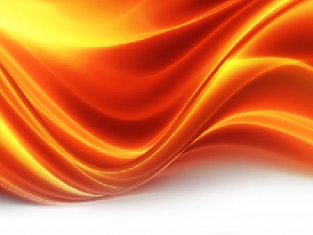火の輝く波と抽象的な背景