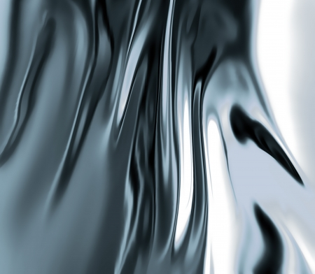 refractions: liquid metal close-up as background