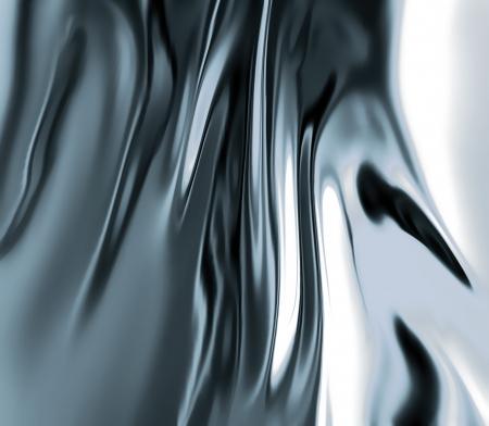 cromo: metal líquido de cerca como fondo