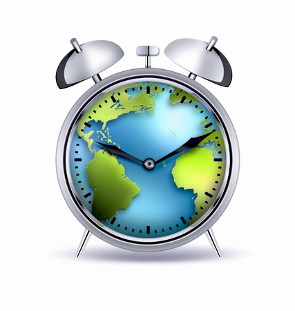 alarm clock with the world inside photo