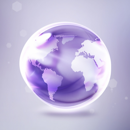 abstract shining world on a light background photo
