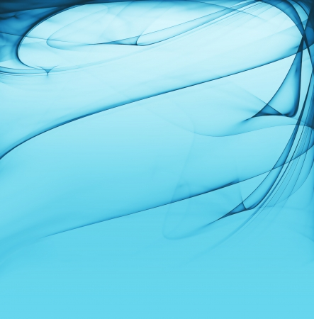 abstract blue background with smooth lines Stock Photo - 22497582