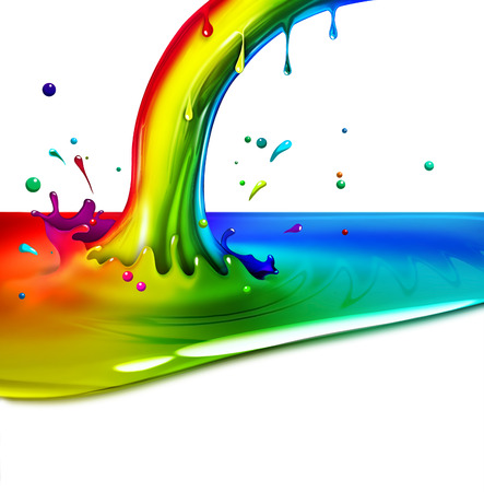 end of the rainbow splash on a light background Stock Photo - 22497608
