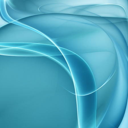 abstract blue background with smooth white lines Stock Photo - 22497644