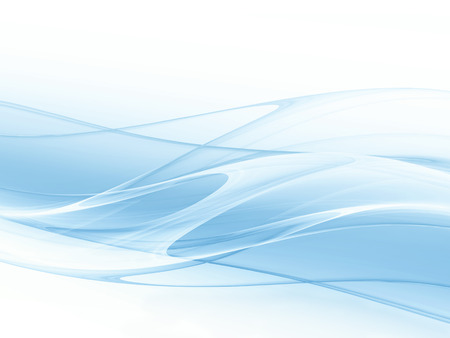 abstract blue background with smooth white lines