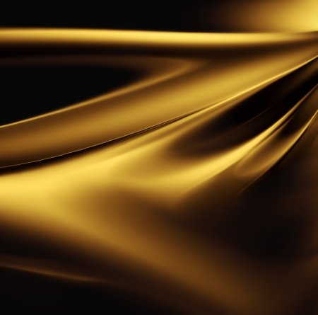 art materials: abstract gold background with smooth lines Stock Photo