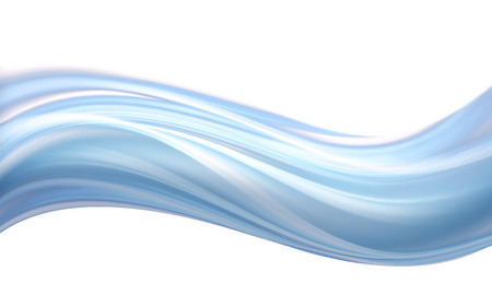 painted lines: light blue wave on a white background Stock Photo