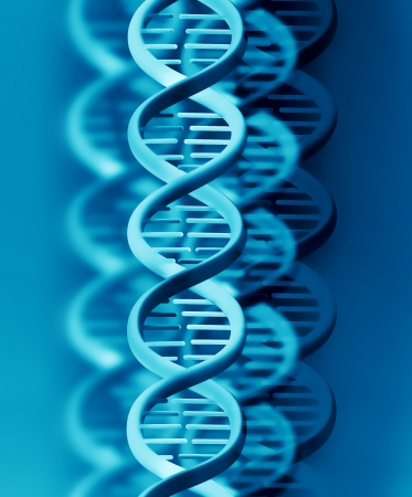 dna test: abstract background with blue DNA strand   Stock Photo