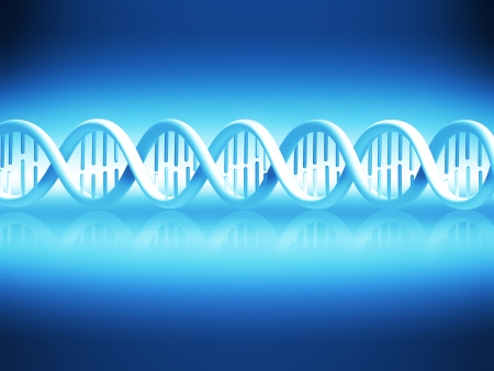 abstract background with blue DNA strand  photo