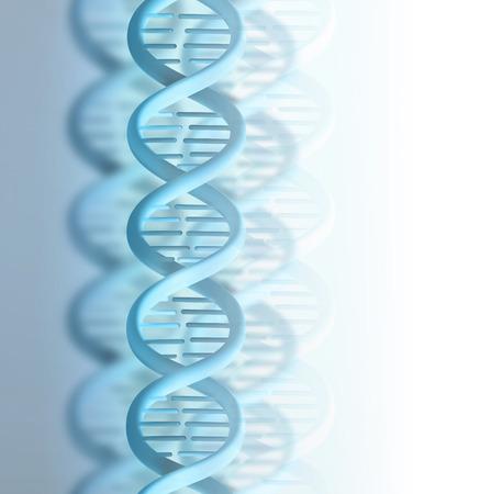 human chromosomes: blue DNA strand on a light background Stock Photo