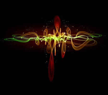 equalizer: abstract glowing equalizer on black background