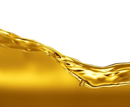 Olie Wave op een witte achtergrond Stockfoto