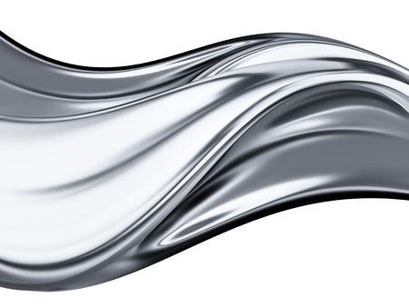 白い背景の上の抽象的なクロム波 写真素材 - 24887827