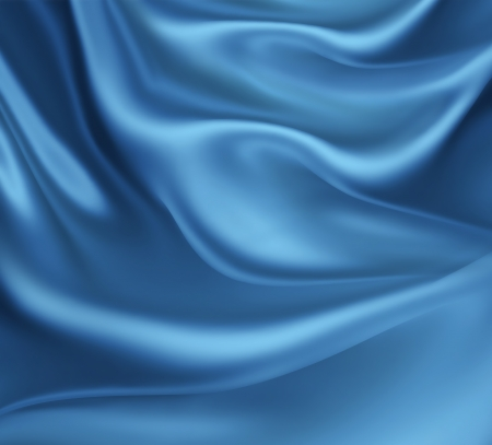 abstract background with blue silk waves Stock fotó