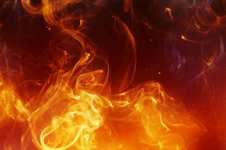 conflagration: abstract fire background with smooth lines