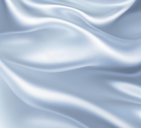 Closeup of white satin fabric as background