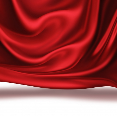 health beauty: waves of red silk as background