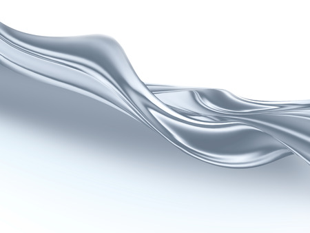 light liquid silver closeup as a background Stock Photo - 24887983
