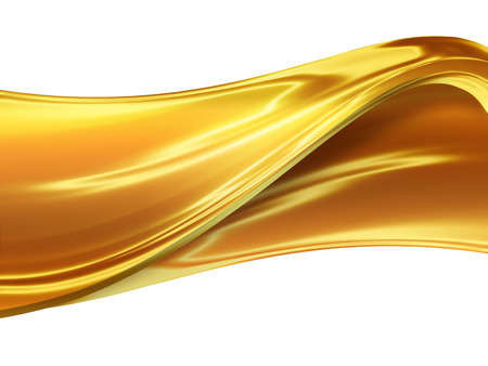 caramel: abstract  caramel wave on white background